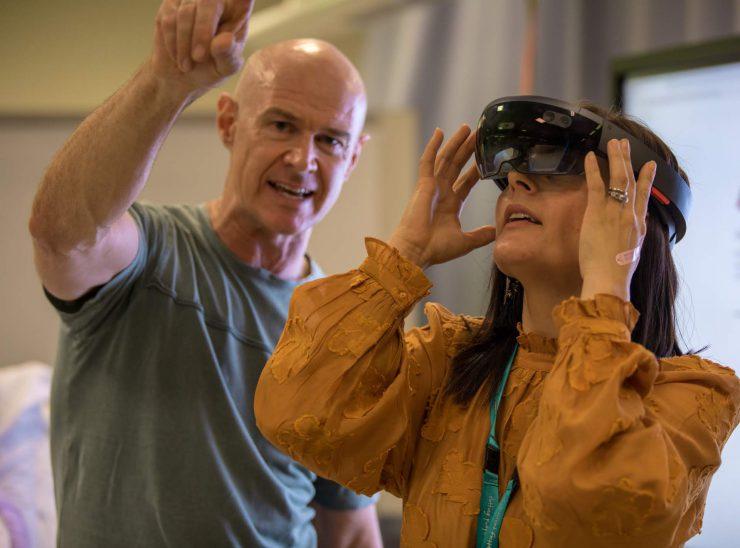 Demonstration of HoloLens